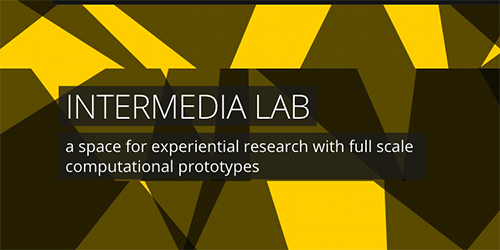 Intermedia Lab - A space for experimental research with full scale computational prototypes